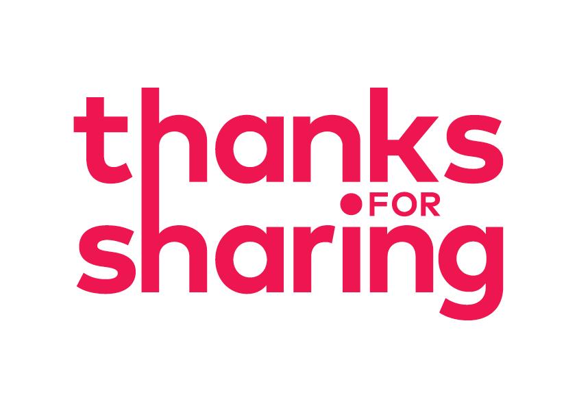 Logo Thanks for sharing